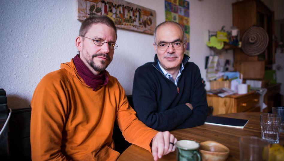 Freigelassene Peter Steudtner (links) und Ali Gharavi in Berlin