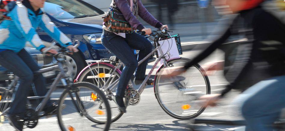 Ganz schön voll: Immer mehr Menschen legen ihre Wege in der Stadt mit dem Fahrrad zurück