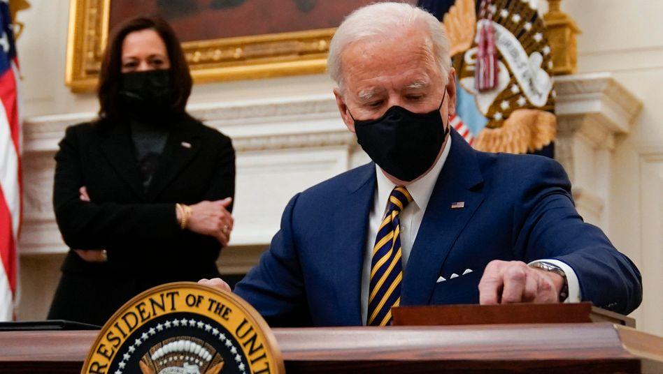 Joe Biden und Kamala Harris (im Januar)