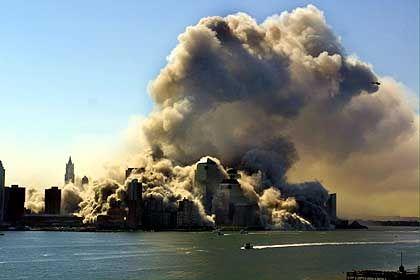 Ganz Manhattan - eine Rauchwolke