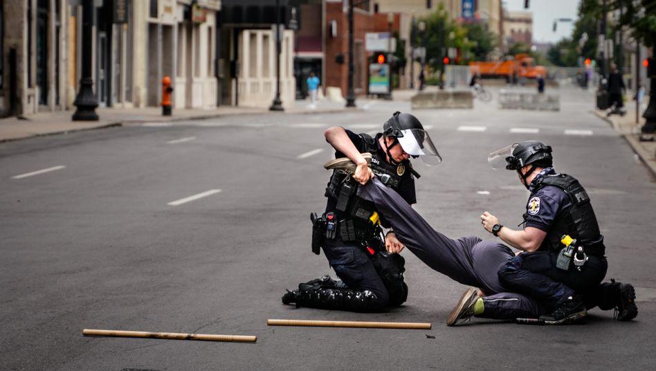 Polizeieinsatz in Louisville, Kentucky, 23. September 2020