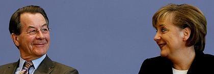 Müntefering, Merkel: Zum Schluss wird alles gut