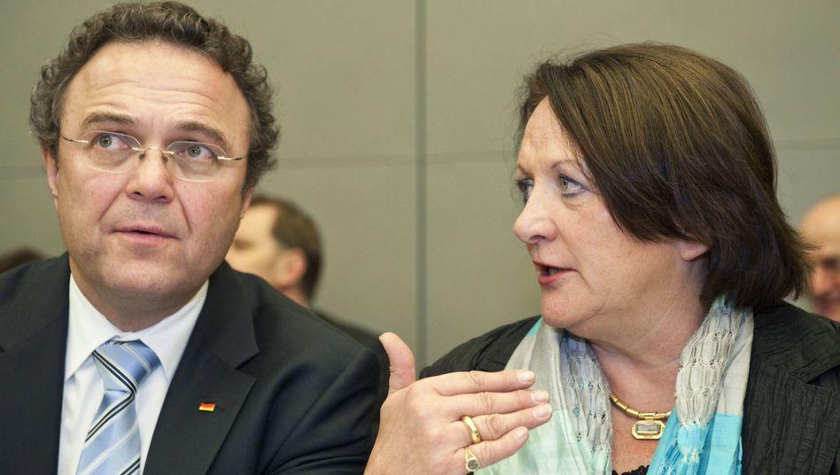 Kontrahenten Friedrich, Leutheusser-Schnarrenberger: Ministerin sieht rot