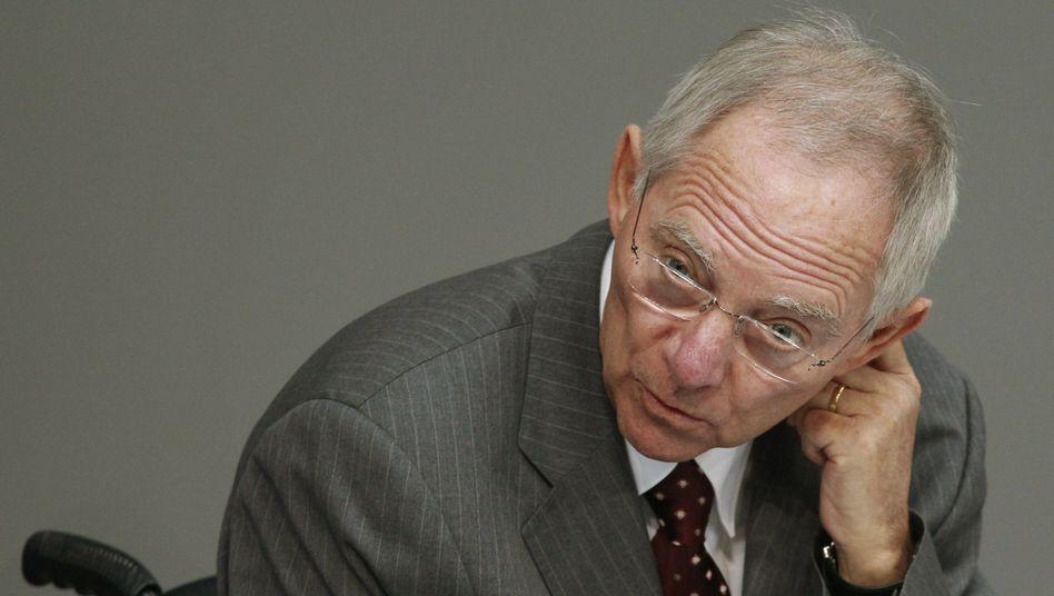 Finanzminister Schäuble: Der Vorschlag klingt charmant