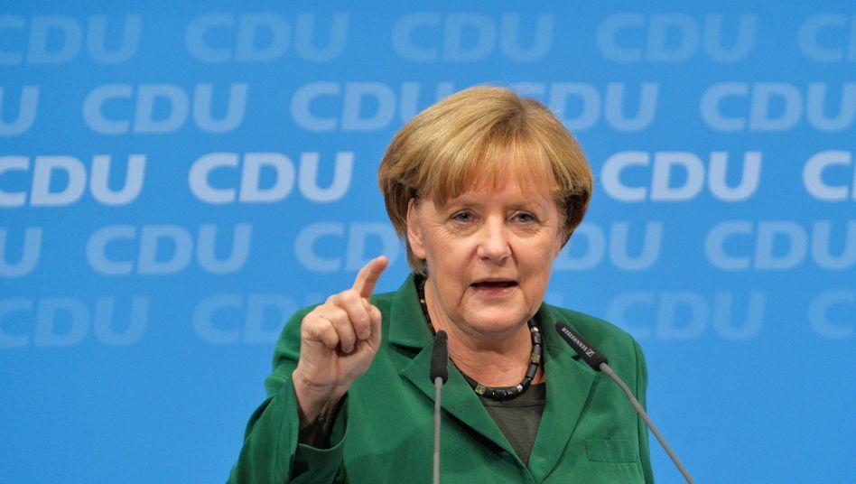 """Kanzlerin Angela Merkel: """"Gehen Sie bitte am Sonntag zur Wahl"""""""