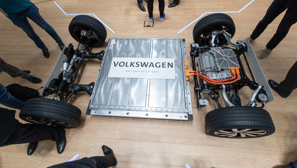 Plattform eines VW-Elektrofahrzeugs2019: Von Asien unabhängiger werden