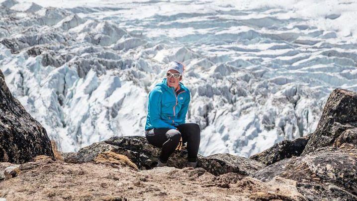 Tamara Lunger am Kanchenjunga (8586m) im Himalaya (2016)