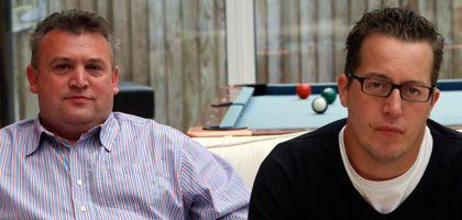 """Talkbiznow-Macher Mark Parker (l.) und Martin Warner: """"Größer als Google"""""""