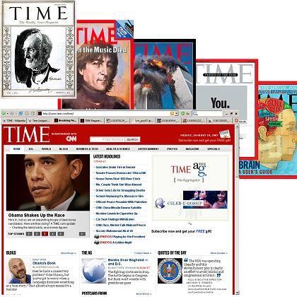 Time-Cover: Das aktuellste steht heute immer Online
