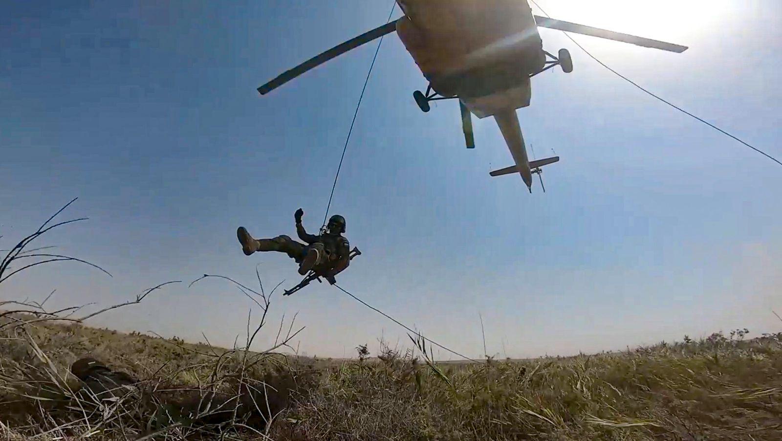 Militärübung in Zentralasien an Grenze zu Afghanistan