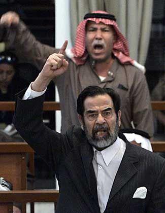 Ex-Diktator Saddam Hussein: Ganze Reihe von Eklats