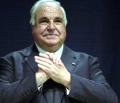 Siegessicher: Helmut Kohl