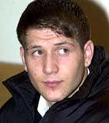 """Der Serienstraftäter """"Mehmed"""" am 2.3.2000 während einer Pressekonferenz im Verwaltungsgericht in München"""