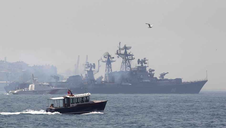 """Zerstörer """"Smetlivy"""": """" Keinen Funkkontakt zum türkischen Schiff herstellen können"""