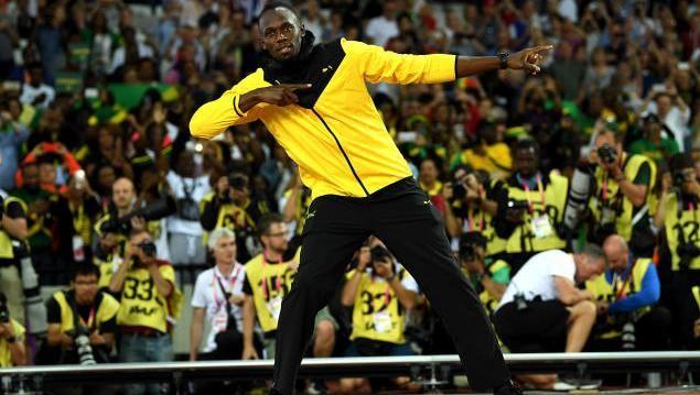 Usain Bolt bei seiner Abschiedsrunde in London
