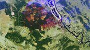 Waldbrände um Tschernobyl aus dem All zu sehen