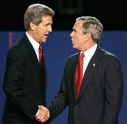 """Kandidat Kerry, Kontrahent Bush: """"Er stellt die richtigen Fragen"""""""