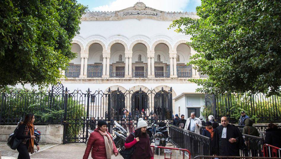 Das Gerichtsgebäude in Tunis