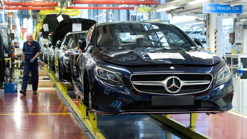 Mercedes-Benz-Werk des Autokonzerns Daimler in Sindelfingen