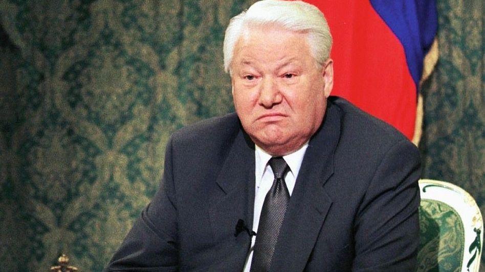 Alkoholkrank: Präsident Jelzin verkörperte Russlands Schwäche auch physisch (Foto von 1999).