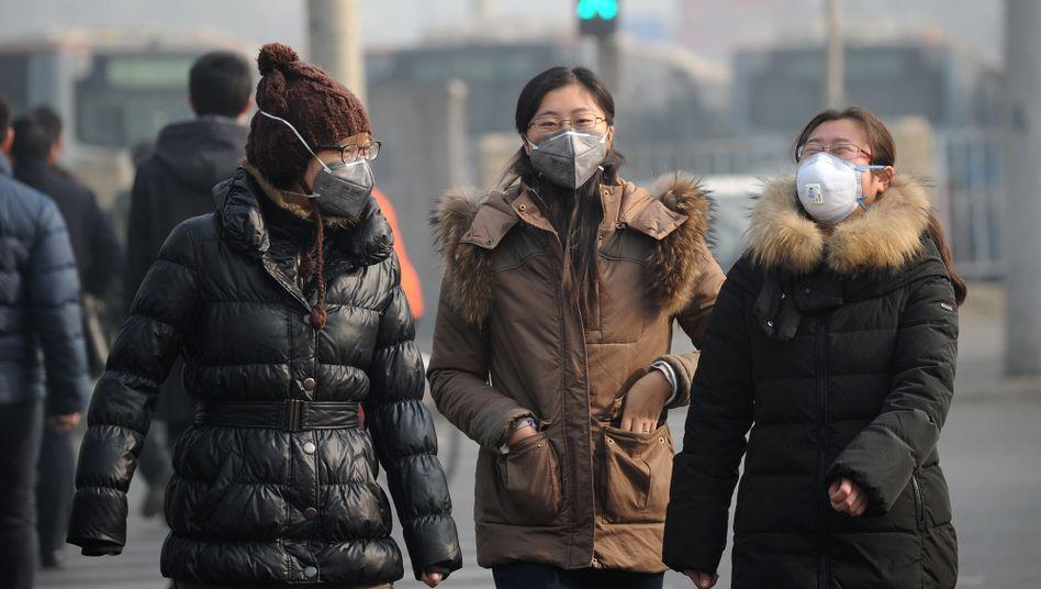 Peking im Januar 2014: Dicke, graue Luft