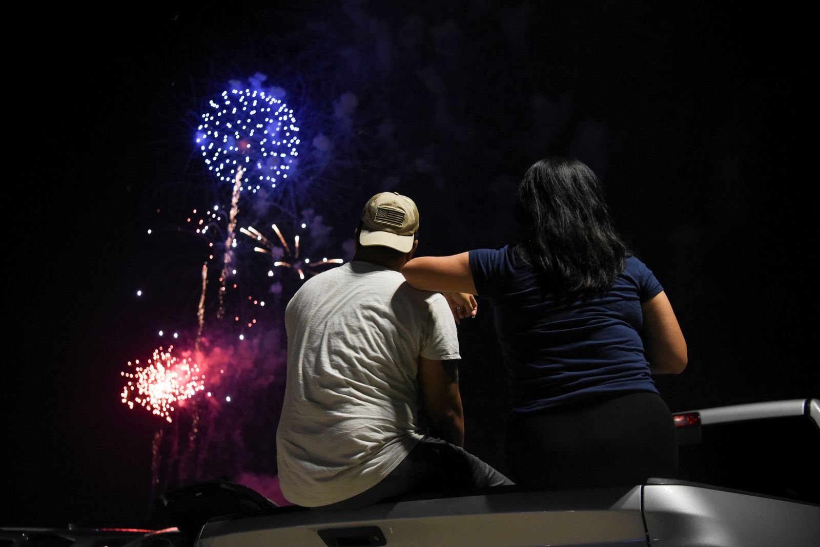 People celebrate Independence Day in Katy, Texas