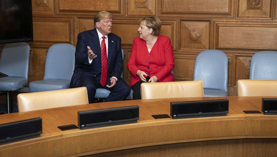 Trump und Merkel am Rande der Generalversammlung im Uno-Hauptquartier in New York