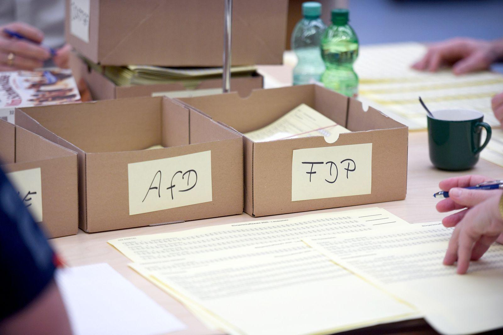 Bürgerschaftswahl - Auszählung