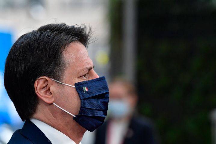 Italiens Premierminister Giuseppe Conte in Brüssel