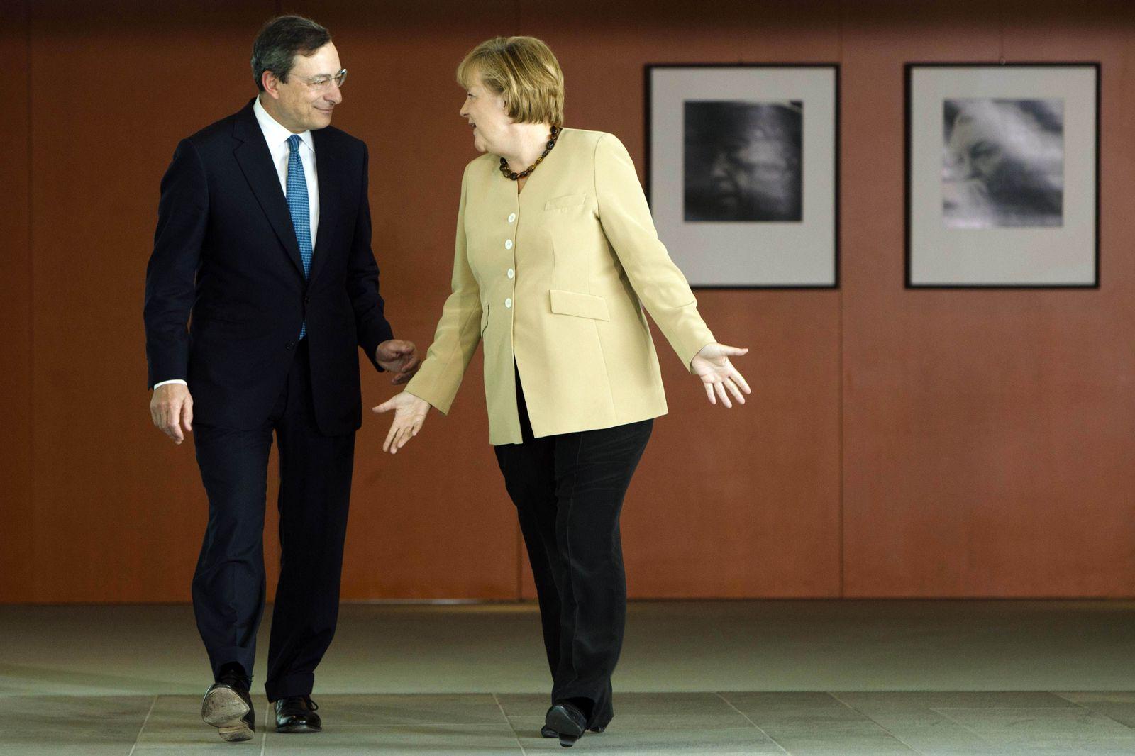 Draghi/ Merkel
