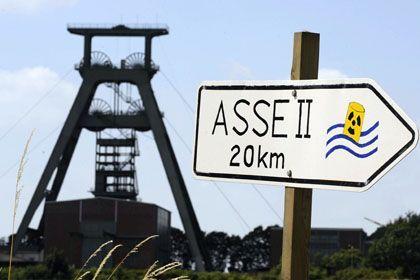 Fördergerüst Schacht Konrad nahe dem Atomendlager Asse II: Radioaktivität acht- bis neunfach erhöht