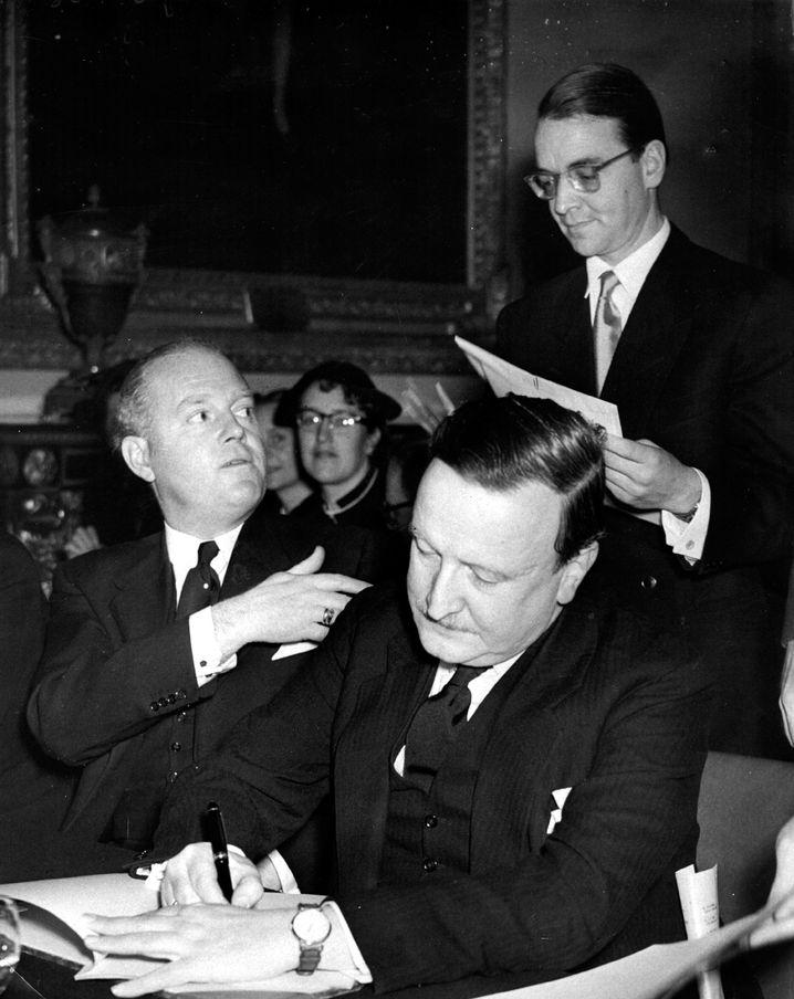 Bankier Abs (vorne im Bild) 1953