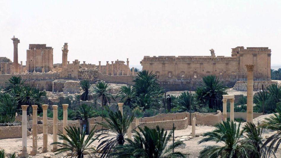 Das Weltkulturerbe von Palmyra am Sonntag: Antike Stätten den IS-Kämpfern ausgeliefert