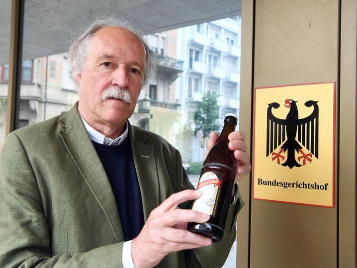 Gottfried Härle, Geschäftsführer der Brauerei Clemens Härle, vor dem Bundesgerichtshof (BGH)