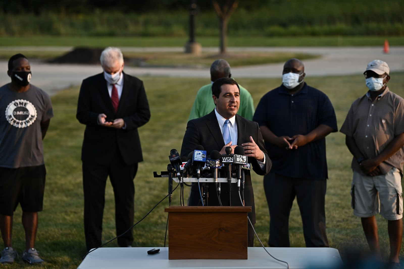 Wisconsin Attorney General Josh Kaul speaks following the police shooting of Jacob Blake, a Black man, in Kenosha