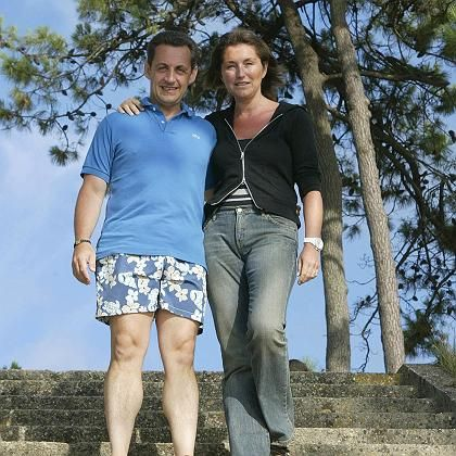 French Interior Minister Nicolas Sarkozy with his wife Cécilia. The two had a very public break-up -- and reconciliation.