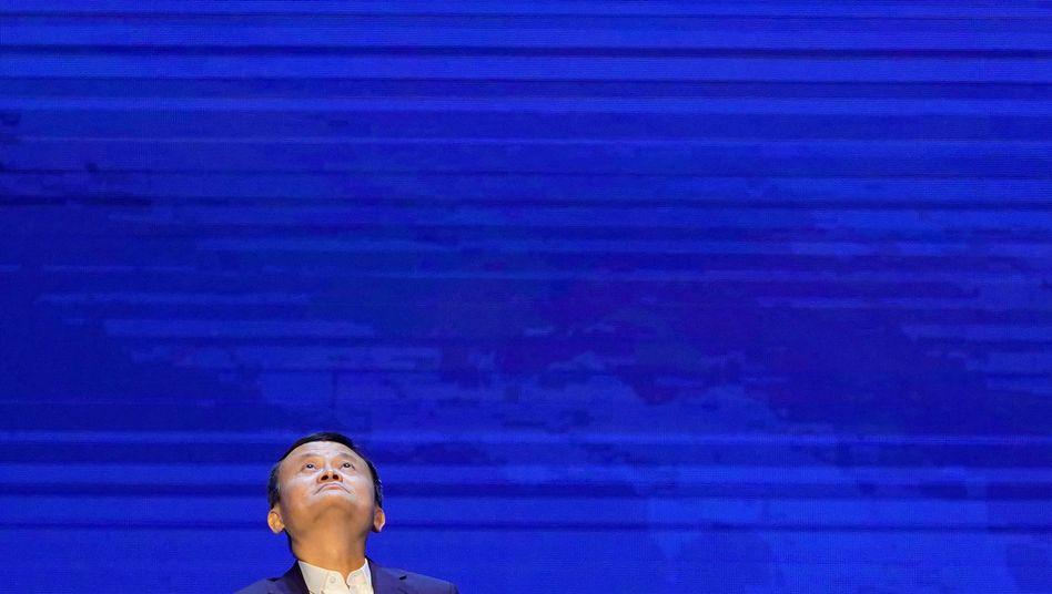 Ruheständler, vermutlich rastlos: Alibaba-Gründer Jack Ma vor knapp zwei Wochen bei der World Artificial Intelligence Conference