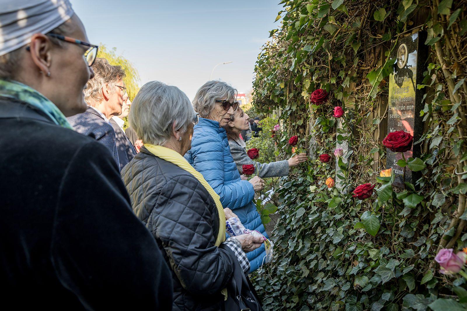Gedenkveranstaltung am Bullenhuser Damm, 20.04.2019.