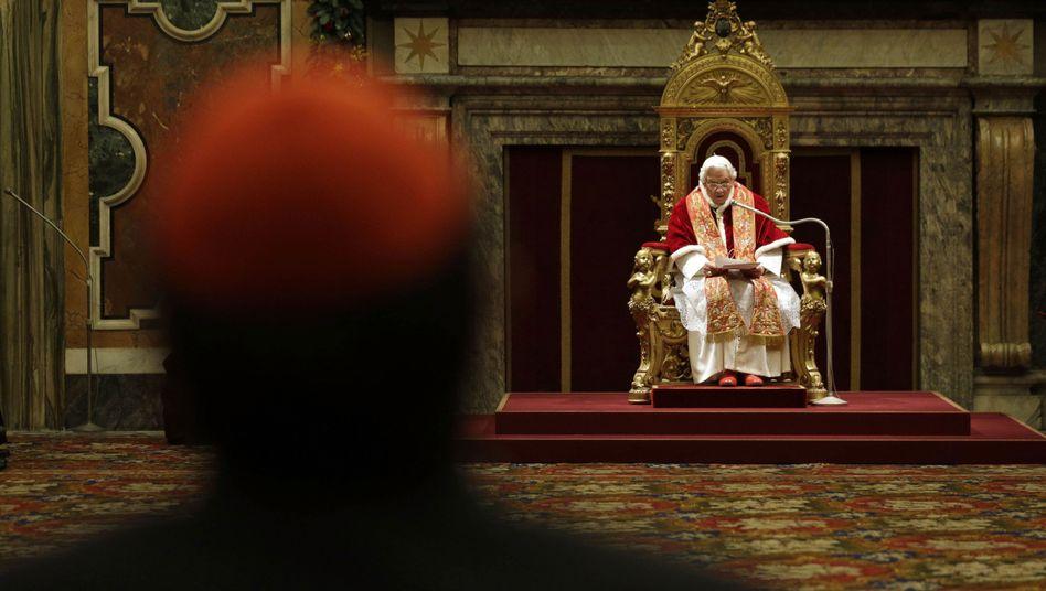 Papst Benedikt XVI.: Weihnachtsempfang für die Kurie im Vatikan
