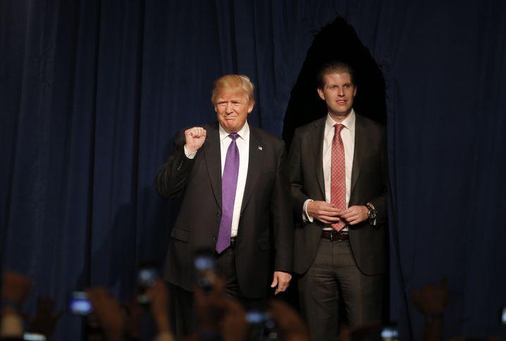 Trump mit Sohn Eric