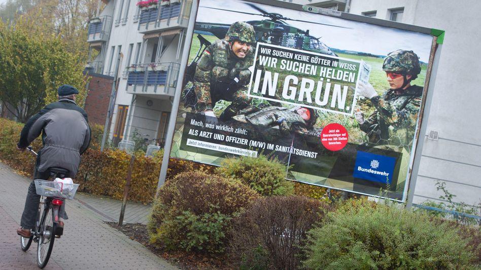 Ein Plakat der Bundeswehr