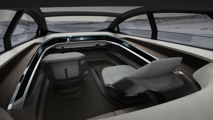 Interieur der Audi-Studie Aicon