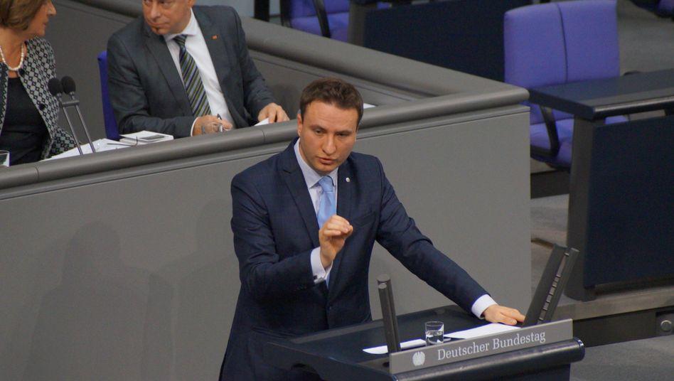 CDU-Politiker Hauptmann im Bundestag