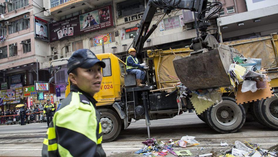 Einsatz gegen Demonstranten: Polizei räumt letztes Protestlager in Hongkong