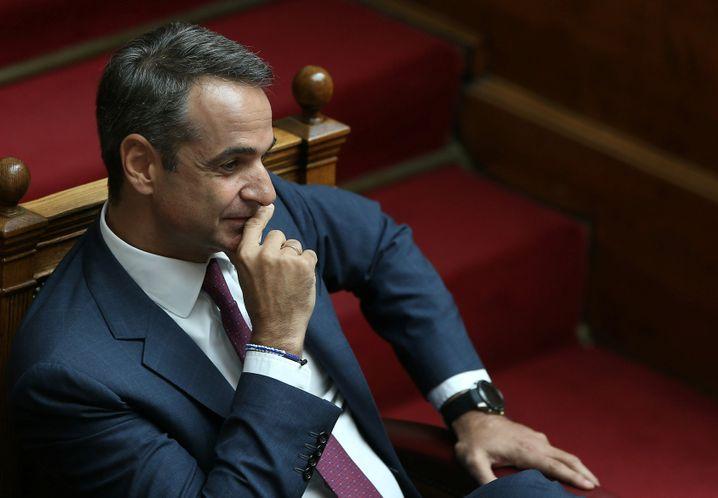 Kurz vor der Abstimmung: Kyriakos Mitsotakis am 8.8.2019 im Parlament