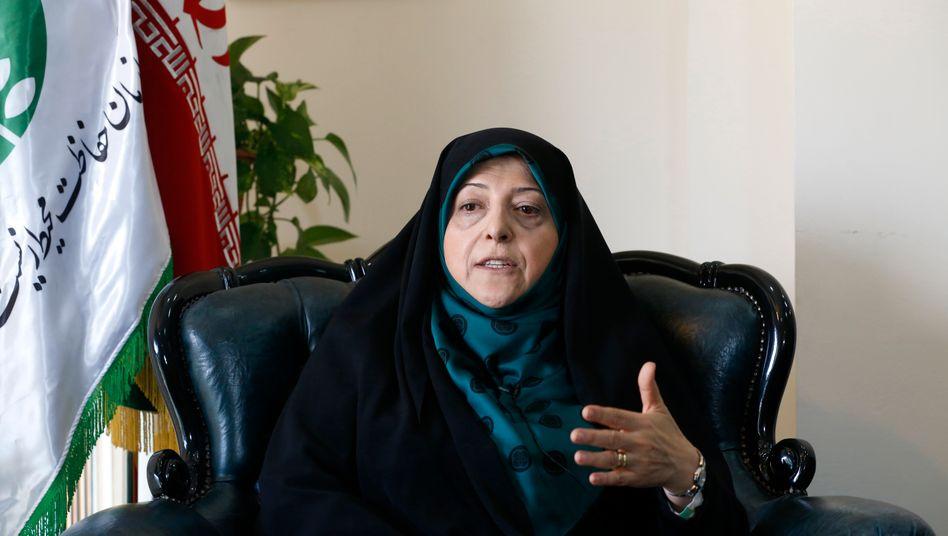 Massoumeh Ebtekar, Vizepräsidentin für Frauen und Familie und eine von zwölf Stellvertreterinnen und Stellvertretern von Staatschef Rohani