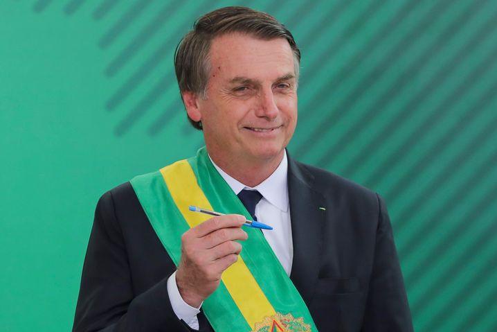 Präsident Jair Bolsonaro, neuer Liebling der Finanzmärkte