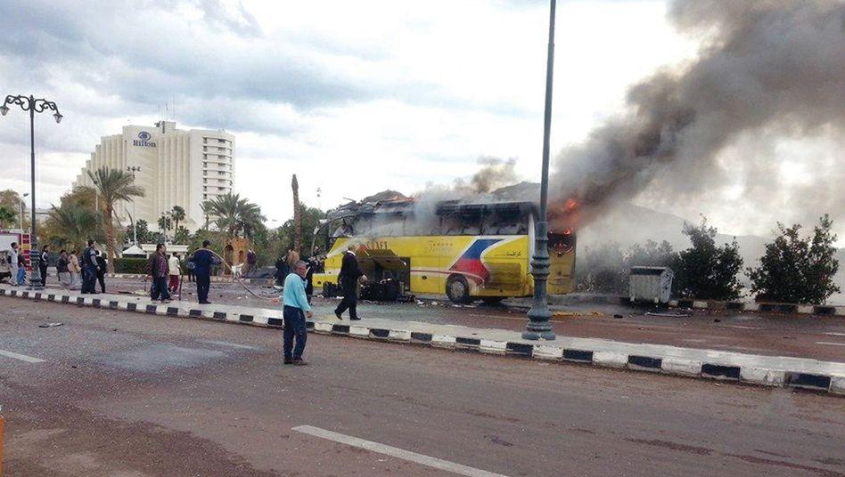 Terror im ägyptischen Badeort Taba: Touristen sterben bei Anschlag auf Bus