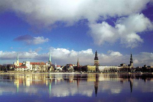 Die lettische Hauptstadt Riga: Ende der Euro-Bindung nur noch Frage der Zeit