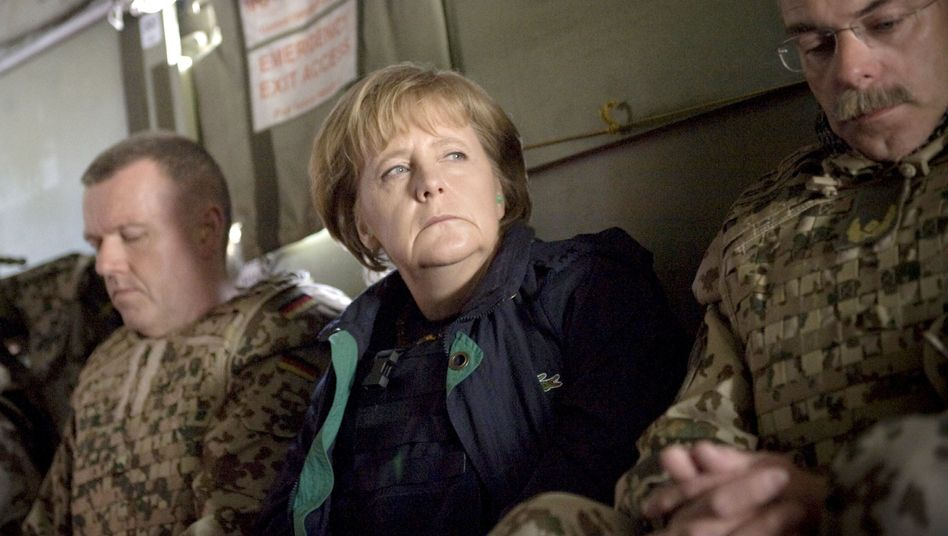 German Chancellor Angela Merkel on a visit to Afghanistan earlier this year.